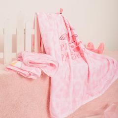 进口棉32s割绒面料毛巾(浴巾80*140 ) 粉红豹