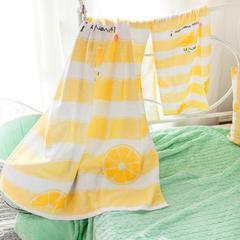 进口棉32s割绒面料毛巾(面巾35*75) 小柠檬