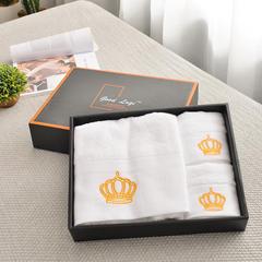 家居用品清仓处理纯棉毛巾-面巾浴巾(皇冠) 礼盒
