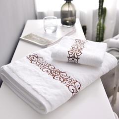 家居用品清仓处理纯棉毛巾-面巾浴巾(金色/咖啡色) 组合