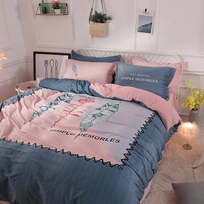 2019新款-宫廷风数码印花法莱绒水晶绒牛奶绒四件套 1.5m(5英尺)床 简单记忆