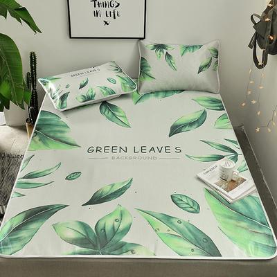 2019新款-小清新冰丝凉席 1.2m(4英尺)床 绿色生活