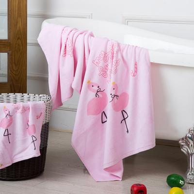 2019新款-ins爆款独家印花毛巾 面巾35*75cm/条粉色火鸟