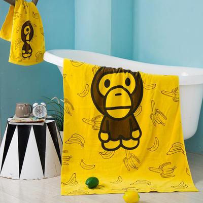 2019新款-ins爆款独家印花毛巾 浴巾70*140cm/条香蕉小猴