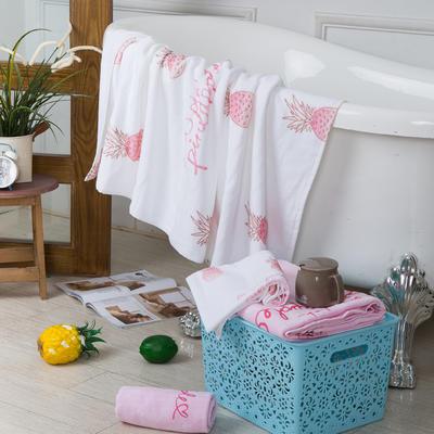 2019新款-ins爆款独家印花毛巾 浴巾70*140cm/条渐变菠萝