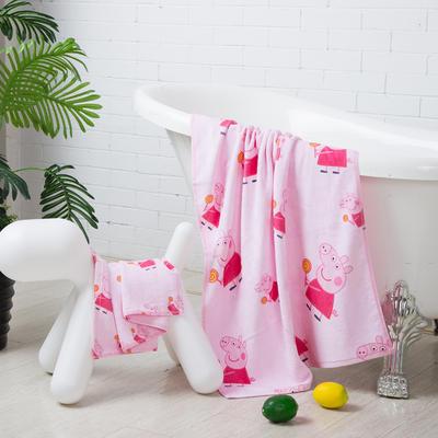 2019新款-ins爆款独家印花毛巾 浴巾70*140cm/条佩奇
