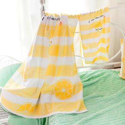 2019新款-ins爆款独家印花毛巾 浴巾70*140cm/条小柠檬