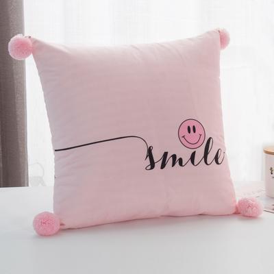 2019新款-方型抱枕 45x45cm/个 字母粉