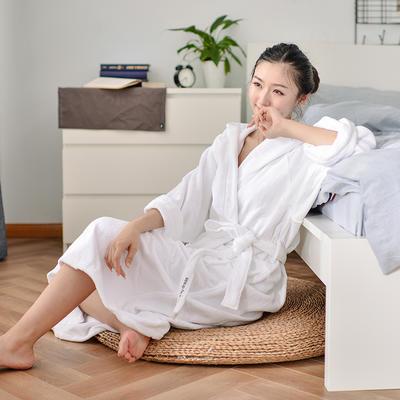 2019新款-家居小物(浴袍成人) 衣长120cm 胸围135cm 袖长60 白色浴袍