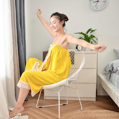 2019新款-家居小物(浴裙) 90*140cm 黄色浴裙