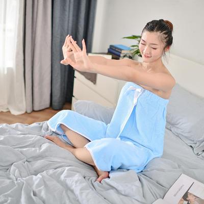 2019新款-家居小物(浴裙) 90*140cm 蓝色浴裙