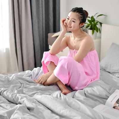 2019新款-家居小物(浴裙) 90*140cm 玫红浴裙