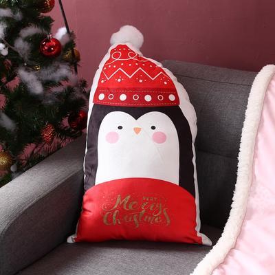 2019新款-圣诞系列抱枕 28cm*50cm/个 企鹅