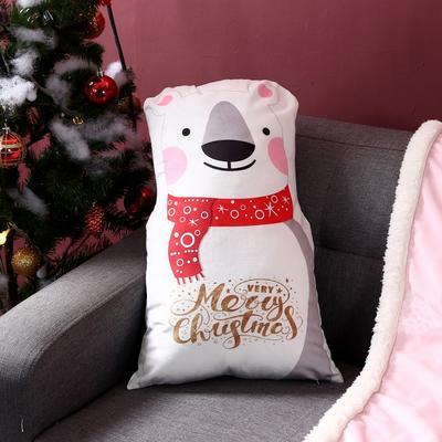 2019新款-圣诞系列抱枕 28cm*50cm/个 熊