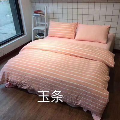 2019新款-水洗棉四件套 1.5m(5英尺)床 玉条