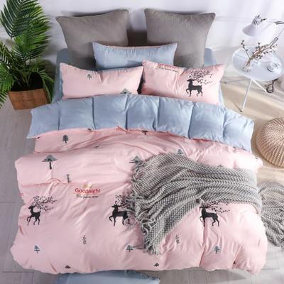 2019新款-水洗棉四件套 1.5m(5英尺)床 丛林生活