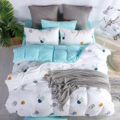 2019新款-水洗棉四件套 1.5m(5英尺)床 多趣时光