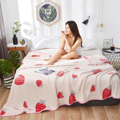 2019新款-雪花绒毛毯 1.5*2.0 草莓日记