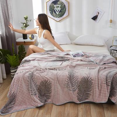 2019新款-雪花绒毛毯 1.5*2.0 浅浅叶语