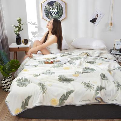 2019新款-雪花绒毛毯 1.2*2.0 小菠萝