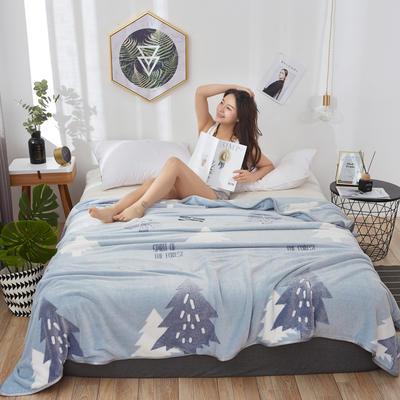 2019新款-雪花绒毛毯 1.5*2.0 幸福树