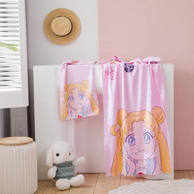 2020新款 -独家全棉大版印花毛巾浴巾 浴巾70*140cm美少女8#