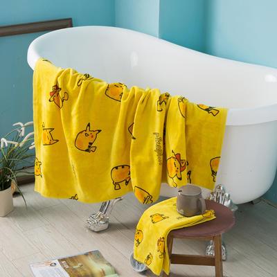2020新款 -独家全棉大版印花毛巾浴巾 浴巾70*140cm皮卡丘1