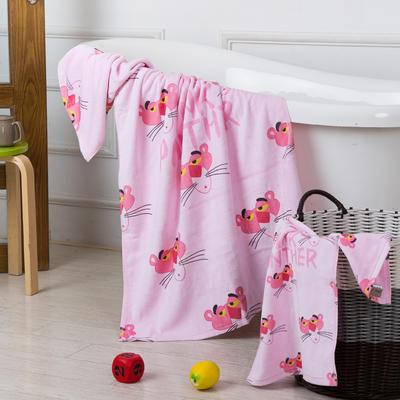2020新款 -独家全棉大版印花毛巾浴巾 浴巾70*140cm顽皮豹