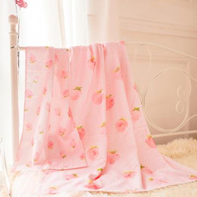 2020新款 -独家全棉大版印花毛巾浴巾 浴巾70*140cm小草莓