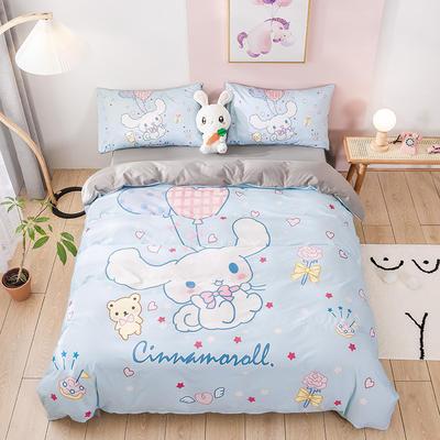 2020新款-全棉数码印花四件套 床单款三件套1.2m(4英尺)床 玉桂狗