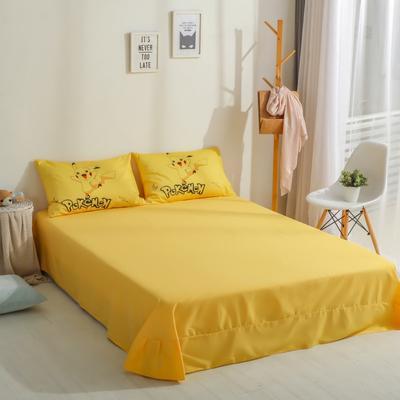 2020新款-全棉数码印花单床单 245*245cm 皮卡丘6#