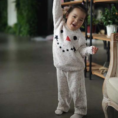 亲子款雪人套装(儿童款) M 灰色
