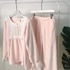 舒棉绒两色套装 均码 粉色