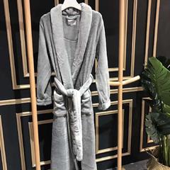 浴袍灰色 M 灰色
