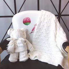 小熊毯(100*100) 白色