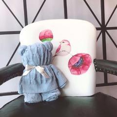 小熊毯(100*100) 蓝色