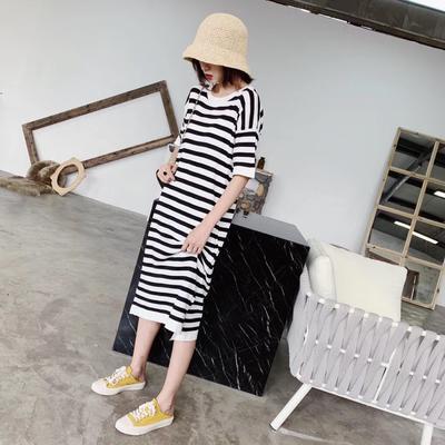 2019新款-条纹裙 均码 黑色