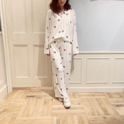 2019新款-莫代尔爱心套装 均码 白色