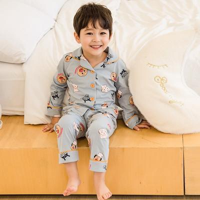2020新款-家居服全棉儿童款 均码 灰色