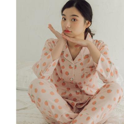 2020新款-家居服纱布番茄套装+裙子 M100-120斤 桔色套装