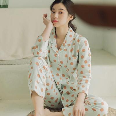 2020新款-家居服纱布番茄套装+裙子 M100-120斤 绿色套装