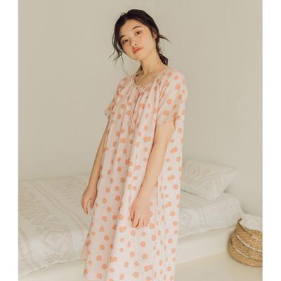 2020新款-家居服纱布番茄套装+裙子 M100-120斤 桔色裙装