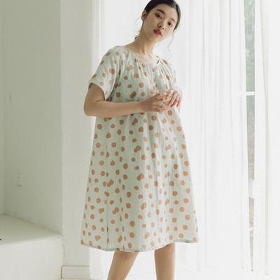 2020新款-家居服纱布番茄套装+裙子 M100-120斤 绿色裙装