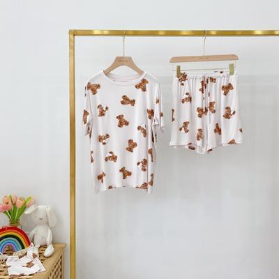 2020新款莫代尔泰迪熊裙+套装家居服 套装均码 白色