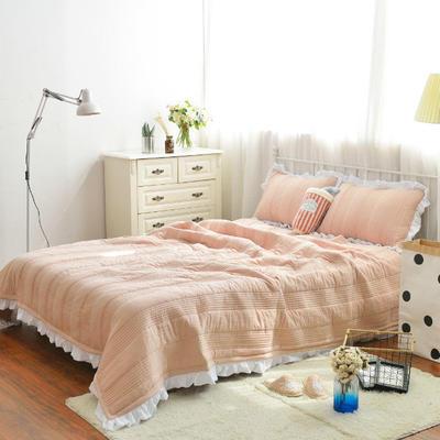 韩版水洗棉床盖三件套 220*240 玉色