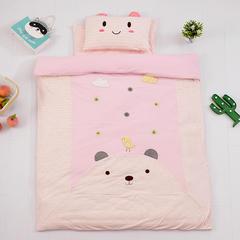 2018新款婴儿针织棉被套 粉色120*150cm