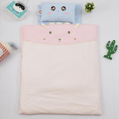 2018新款针织棉儿童被 110*120cm 粉色