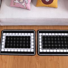 法莱绒地垫长方形 包装 黑色方格