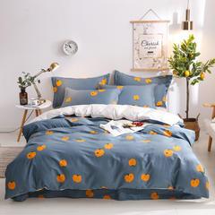 2019新款13372纯棉四件套 1.2m床单款三件套 可爱橙