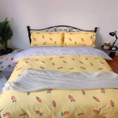 2019新款13372纯棉四件套 1.2m床单款三件套 萝卜